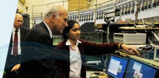 Dr Vince Cable visiting the Edinburgh Wave Tank Facility in 2011