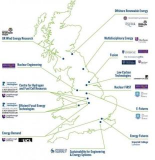 UK Energy CDT Network map